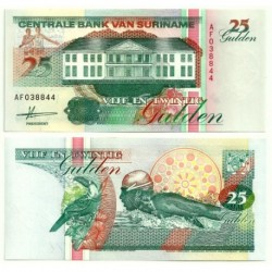 (138a) Surinam. 1991. 25 Gulden (SC)