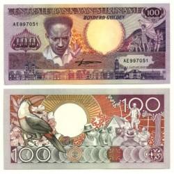 (133b) Surinam. 1988. 100 Gulden (SC)