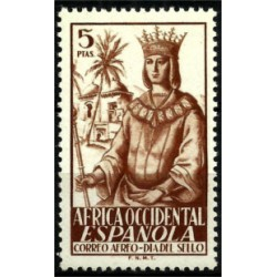Africa Occidental. 1949. 5 Pesetas. Dia del Sello (Correo Aéreo)