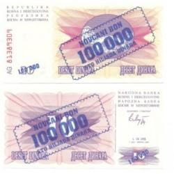 (34a) Bosnia-Hercegovina. 1993. 100000 Dinara (SC)