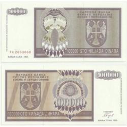 (141) Bosnia-Hercegovina. 1993. 100000 Dinara (SC)