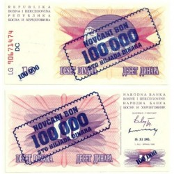 (34b) Bosnia-Hercegovina. 1993. 100000 Dinara (SC)