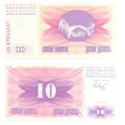(10.a) Bosnia-Hercegovina. 1992. 10 Dinara (SC)
