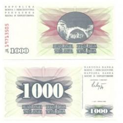 (15a) Bosnia-Hercegovina. 1992. 1000 Dinara (SC)
