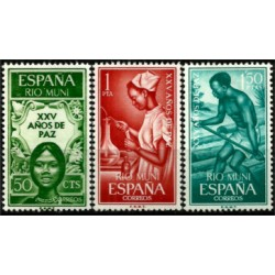 Río Muni. 1965. Serie Completa. XXV Años de Paz