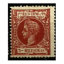 Puerto Rico. 1898/99. 3 Milésimas