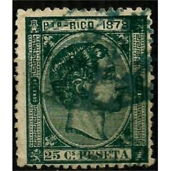 Puerto Rico. 1878. 25 Céntimos de Peseta