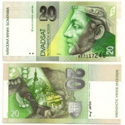(20a) Eslovaquia. 1993. 20 Korun (SC)