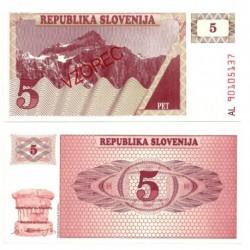 (3) Eslovenia. 1990. 5 Tolarjev (SC)