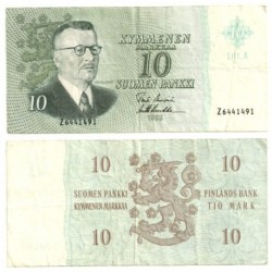 (100) Finlandia. 1963. 10 Markaa (RC)