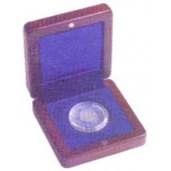 Estuche de madera para una moneda de hasta 60mm