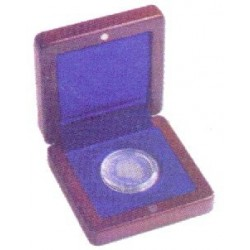 Estuche de madera para una moneda de hasta 41mm
