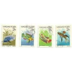 Hungria. 1987. Serie Completa. Fauna marítima