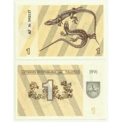 (32) Lituania. 1991. 1 Talonas (SC)