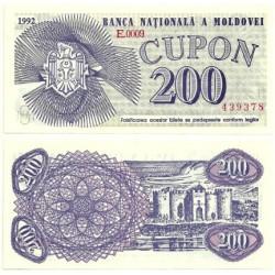 (2) Moldavia. 1992. 200 Cupon (SC)
