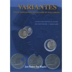 Variantes en acuñaciones de Juan Carlos I