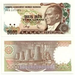 (198) Turquía. 1990. 5000 Lira (SC)