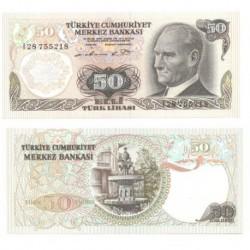 (188) Turquía. 1970. 50 Lira (SC)