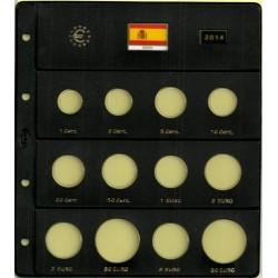 Hoja para Euros 12 Alojamientos (España-2014)