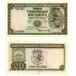 (26) Timor Oriental. 1967. 20 Escudos (EBC)