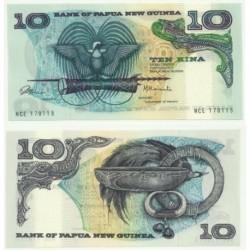 (3) Papúa Nueva Guinea. 1975. 10 Kina (SC)