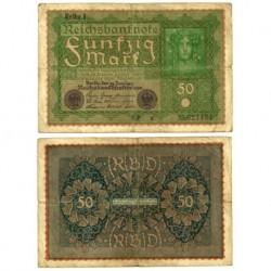 (66) Imperio Alemán. 1919. 50 Mark (RC)