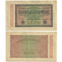 (85b) Imperio Alemán (Weimar). 1923. 20000 Mark (EBC)