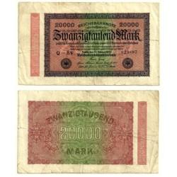 (85b) Imperio Alemán (Weimar). 1923. 20000 Mark (BC)