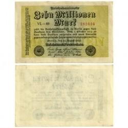 (106a) Imperio Alemán (Weimar). 1923. 10 Millionen Mark (EBC)