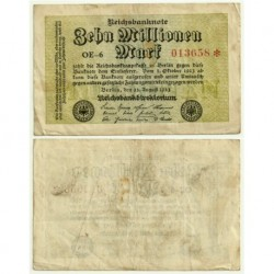 (106a) Imperio Alemán (Weimar). 1923. 10 Millionen Mark (MBC)