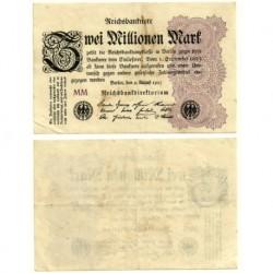 (104a) Imperio Alemán (Weimar). 1923. 2 Millionen Mark (MBC)