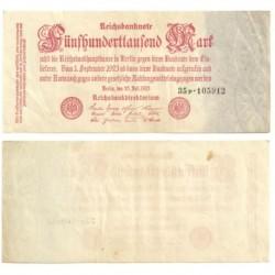 (92) Imperio Alemán (Weimar). 1923. 500000 Mark (MBC)