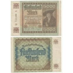 (81a) Imperio Alemán (Weimar). 1922. 5000 Mark (MBC)