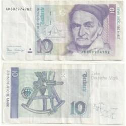 (38.a) Alemania. 1989. 10 Mark (BC)
