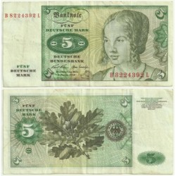 (30.a) Alemania. 1970. 5 Mark (MBC)
