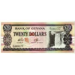 (30e) Guyana. 1996-2016. 20 Dollars (SC)