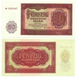 (20) Alemania Democrática. 1955. 50 Mark (SC)