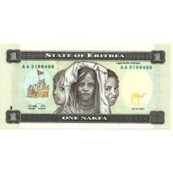 (1) Eritrea. 1997. 1 Nafka (SC)