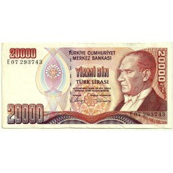 (201b) Turquía. 1970. 20000 Lira (MBC)