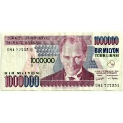 (213) Turquía. 1970. 1 Million Lira (MBC-)