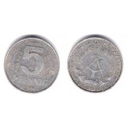 (9.1) Alemania Democrática. 1968(A). 5 Pfennig (MBC)