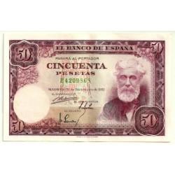 [1951] Billete de 50 Pesetas (EBC) Serie B