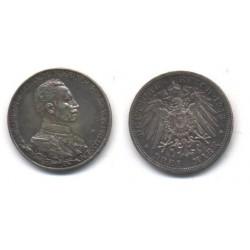 (535) Estados Alemanes (Prussia). 1913(A). 3 Mark (EBC) (Plata)
