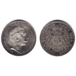 (527) Estados Alemanes (Prussia). 1909(A). 3 Mark (EBC) (Plata)