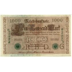 (45a) Imperio Alemán. 1910. 1000 Mark (EBC+)