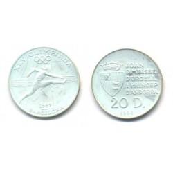 (58) Andorra. 1990. 20 Diners (Proof) (Plata)