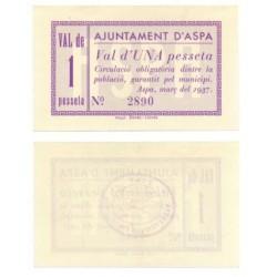 Aspa [1937] Billete de 1 Peseta (SC)