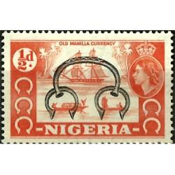 Nigeria. 1953. ½ Pound. Old Manilla Currency