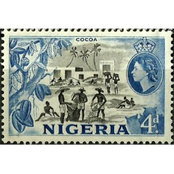 Nigeria. 4 Pound. Industria del Cacao