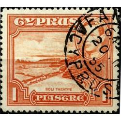 Chipre. 1938. 1 Piastre. Soli Theatre